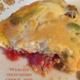 Weight Watchers Crock Pot Breakfast Casserole.