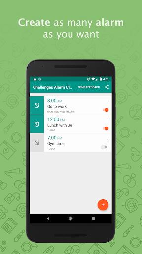 Challenges Alarm Clock - Wake up Puzzles (Free) screenshots 1