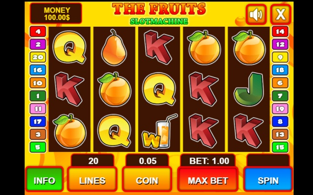 Casino Slot Machine - Fruits