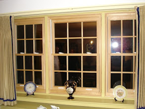 Photo: Aluminum clad wood windows with simulated divided lite grids