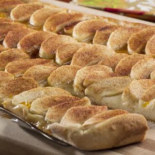 Cinnamon Apple Flat Bread.
