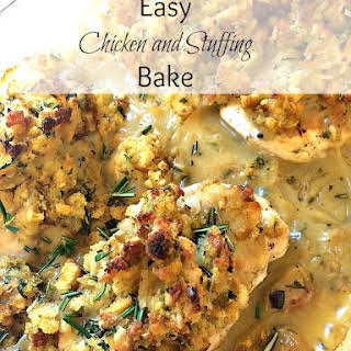 Easy Chicken and Stuffing Bake.