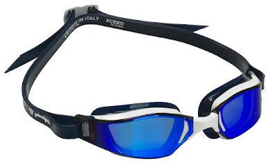 Michael Phelps Xceed Goggles - White/Black with Blue Titanium Mirror Lens alternate image 3