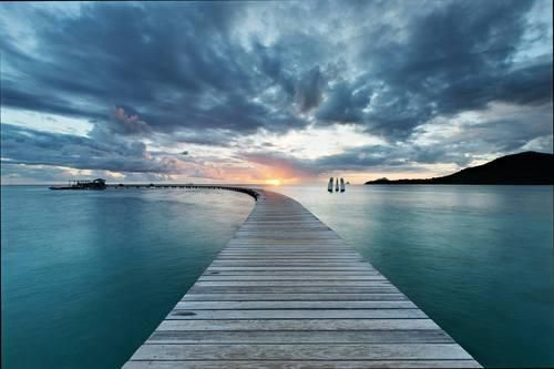 martinique-pier-at-sunset.jpg - A pier in tranquil Martinique at sunset.