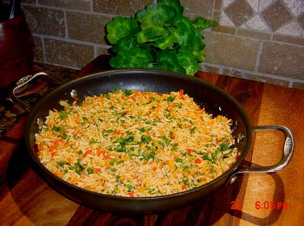 Here Is My Pan Of Orzo Pilaf