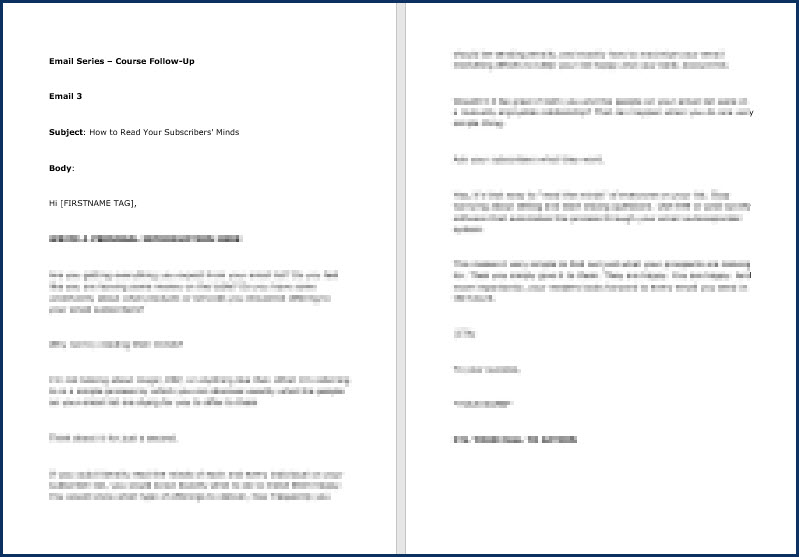 Email Copywriting Essentials - Follow-Up Email 3