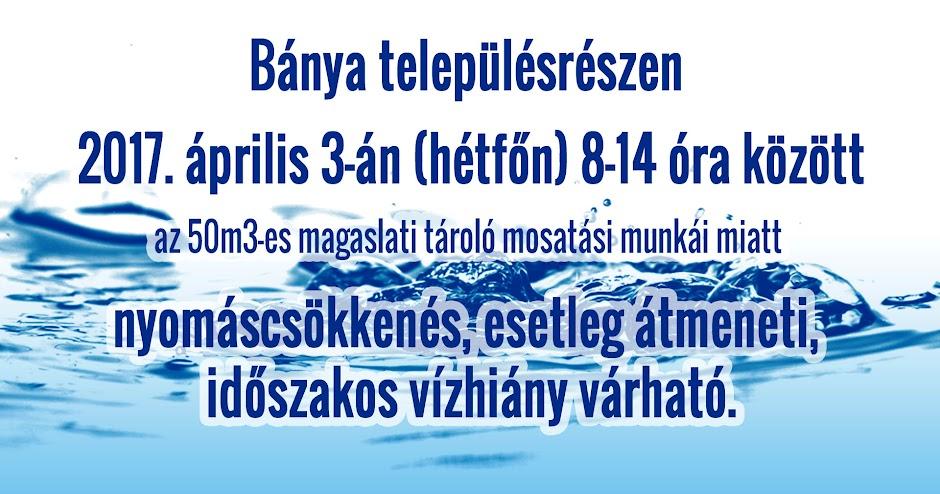Víztorony mosatás Bárdudvarnok Bánya 2017