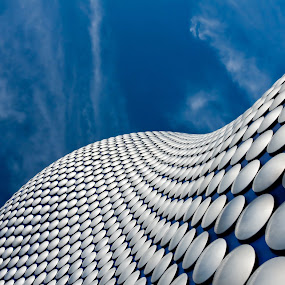 by Mladen Bozickovic - Buildings & Architecture Other Exteriors ( architecture building outdoor outside future futuristic design sky blue modern contemporary clouds metalic honeycomb big huge exterior )