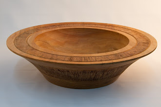 "Photo: Stan Wellborn - Inscribed Bowl - 10"" x 4"" [Sycamore]"