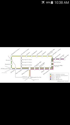 Matsuyama Tram Map