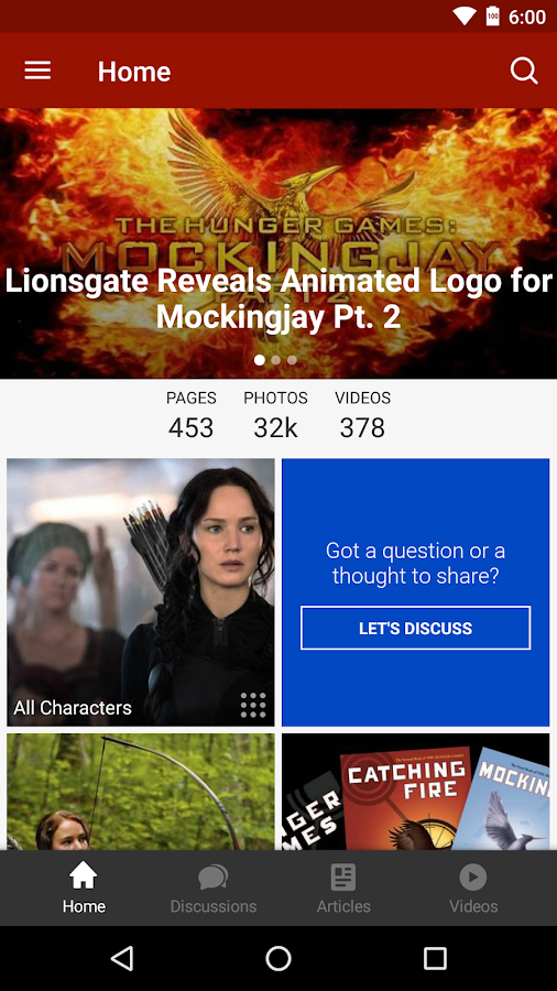 Screenshots of Wikia: Hunger Games for iPhone