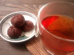 Photo: Spiced Chocolate Cookies with Champagne Oolong