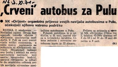 Photo: Gostovanje u Pulu Orijentovih navijača na utakmicu Istra-Orijent odigranu 03.11. 1971 godine