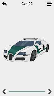 Draw police car 3D - náhled