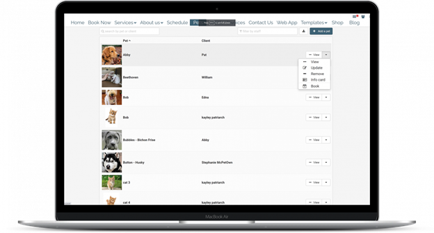 CRM of pets in Easy Busy Pets
