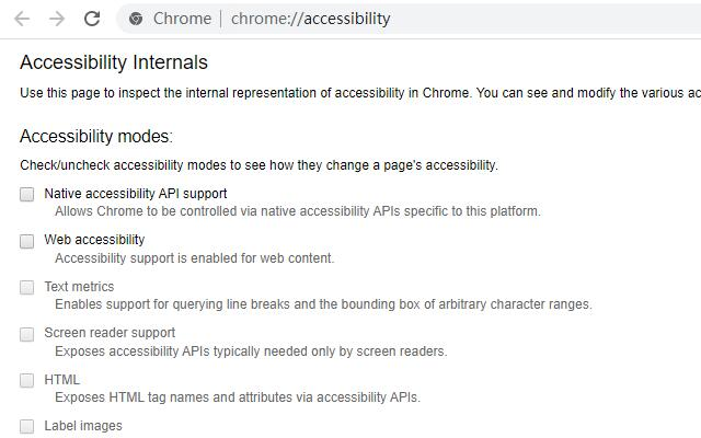 Quick To Accessibility Page