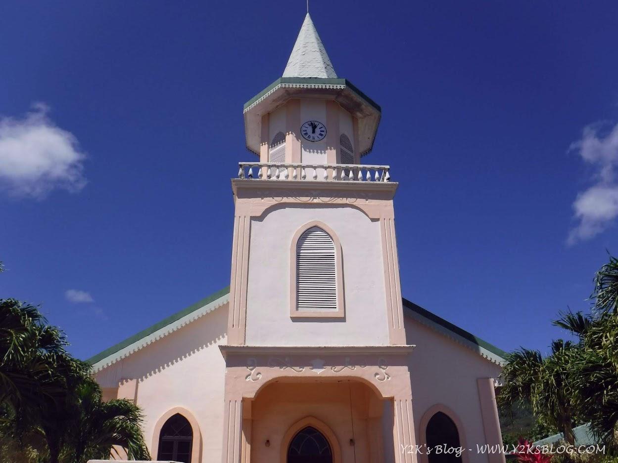 Scorcio della chiesa di Vaitape - Bora Bora