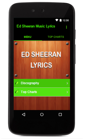 android Ed Sheeran Music Lyrics Screenshot 0