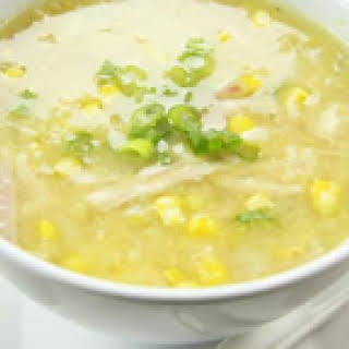 Chinese Chicken and Sweet Corn Soup.