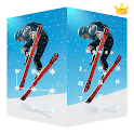 AppLock Live Theme Skiing – Paid Theme icon