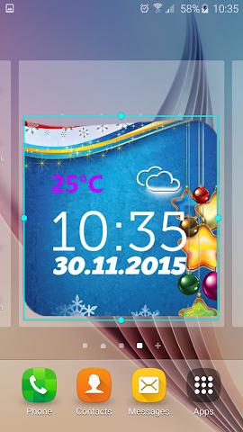 android Neujahr Wetter Uhr Screenshot 3