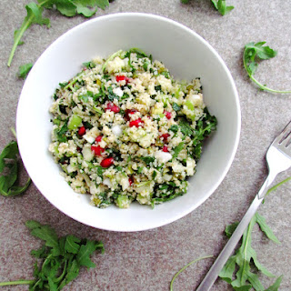 Bulgur Salad With Herbs, Pomegranate And Pistachios