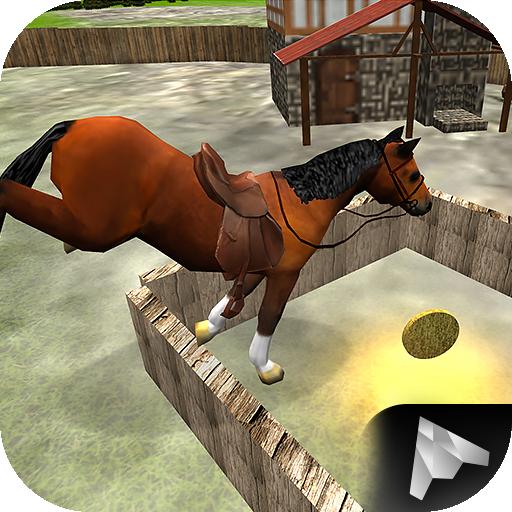 赛车游戏の乗馬レース3D LOGO-記事Game