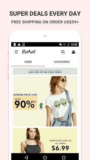 Romwe shopping-women fashion Screenshot