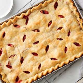 Strawberry-Rhubarb Slab Pie.