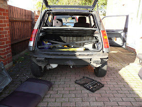 Photo: The Renault 5 Campus bumper removed