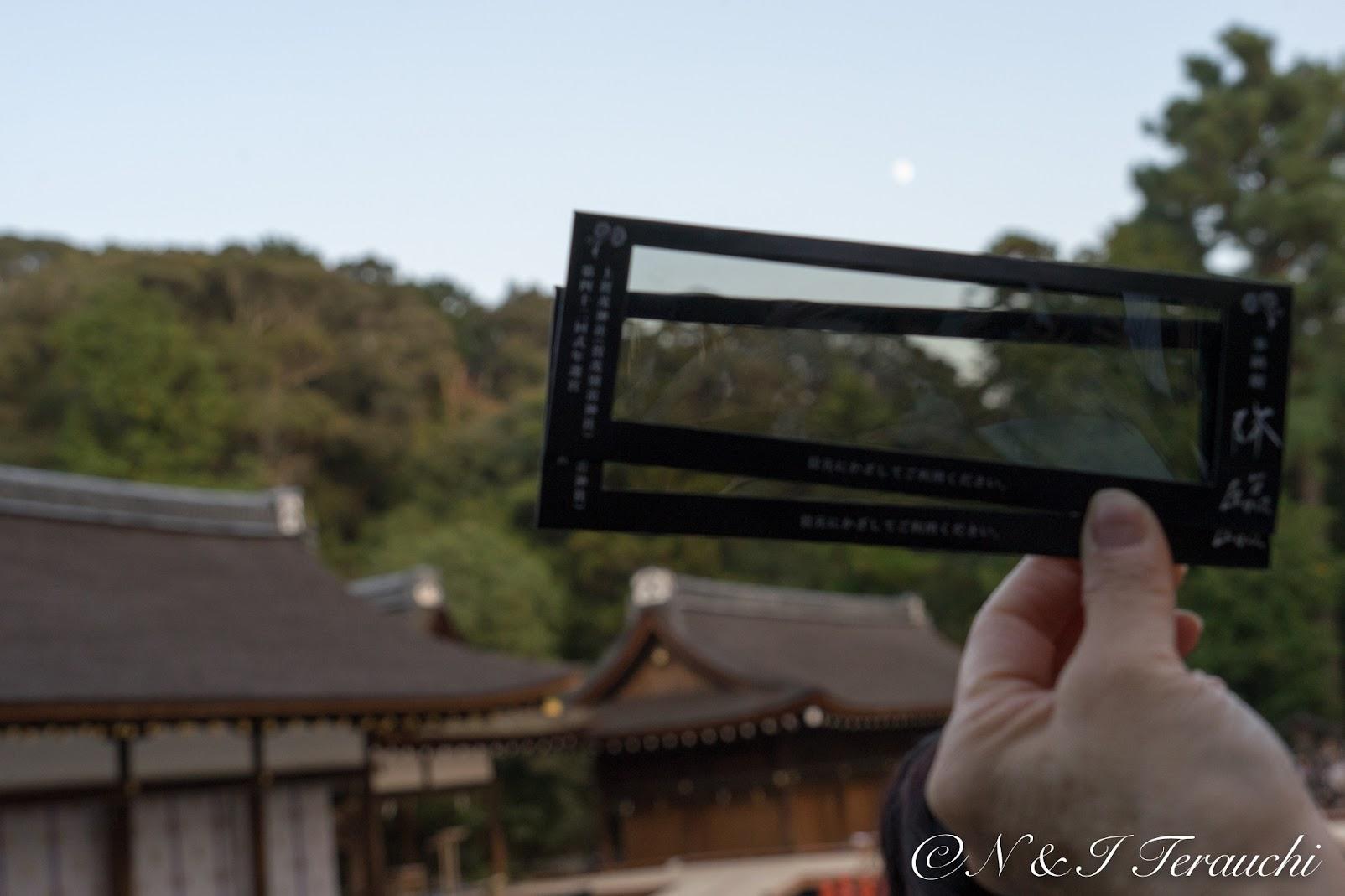 クライマックスシーンに使用された偏光フィルム板