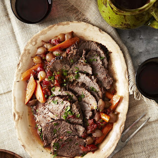 Pot Roast with Red Wine Sauce.
