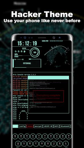 Hacker Theme - Aris Launcher ss1