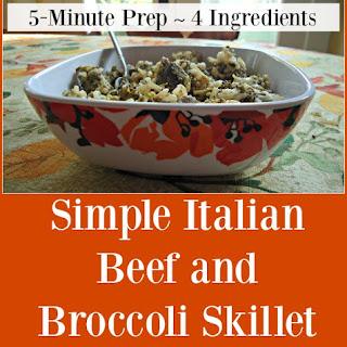 Simple Italian Beef and Broccoli Skillet Recipe