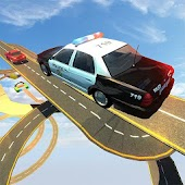 Impossible Police Car Chase Tracks Driving