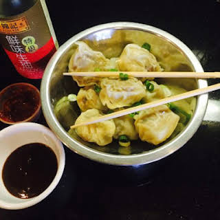 Asian Inspired Spicy Meatball Stuffed Wontons.