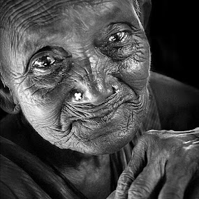 Ignored Tears by Subrata Kar - People Portraits of Women ( senior citizen, face, people )
