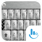 Metal Silver Keyboard Theme