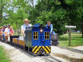 Photo: Doug Blodgett is running beside the passengers, not George Leventon's loco     HALS Public Run Day 2015-0516 RPW