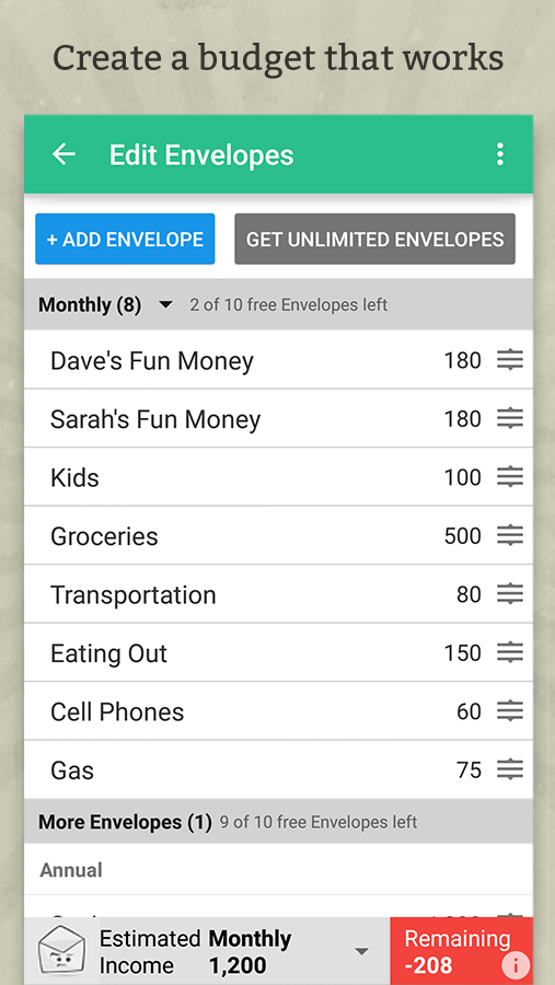 Goodbudget Budget Amp Finance Android Apps On Google Play