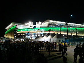 Photo: Arena Pantanal in the colors of the victors