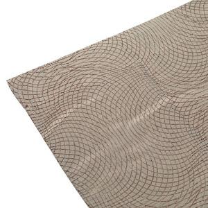 Set 2 perdele decorative, Maro cu model embosat, 140 x 260 cm