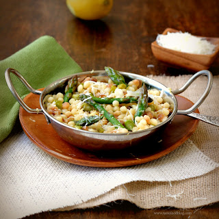 Fregola Sarda with Asparagus, Pecorino and Lemon