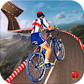 Rooftop Bicycle Stunts Rider Free Games