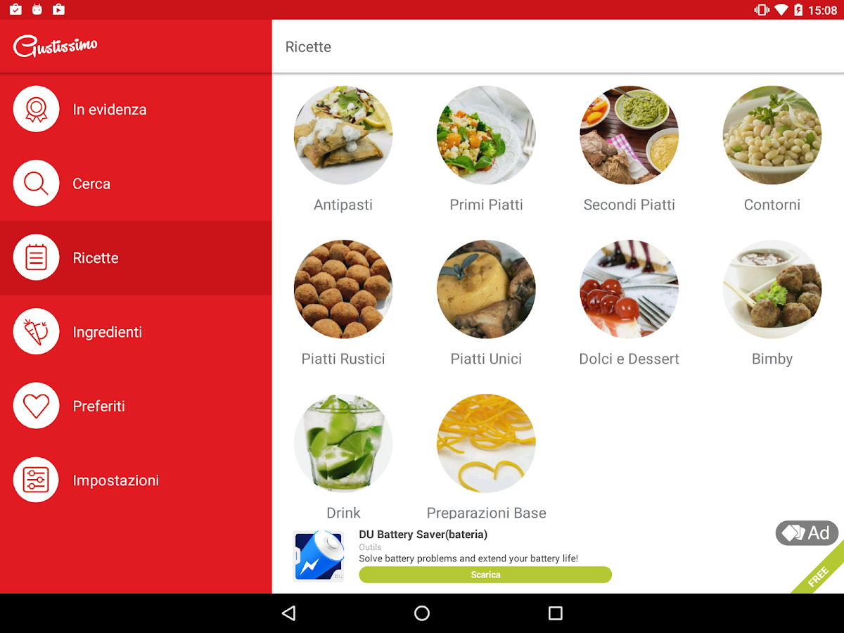 Gustissimo ricette di cucina android apps on google play for Ricette di cucina