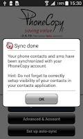 Screenshot of PhoneCopy