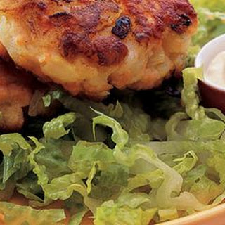 Salmon Cakes with Soy-Ginger Mayonnaise.