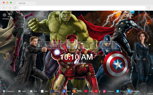 Avengers Age of Ultron New Tabs HD Themes