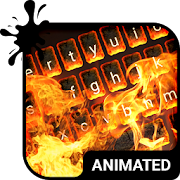 Burning Flaming Fire HD Animated Keyboard Theme