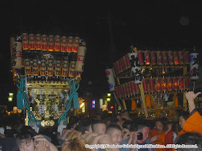 Photo: 【平成16年(2004) 本宮】 納めの時が迫り、丸崎の神輿と連合渡御で帰路に就く。